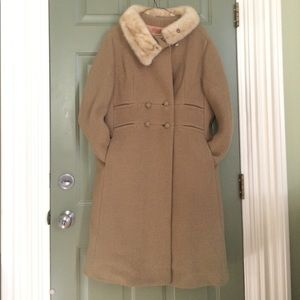 VINTAGE MAXI PEACOAT DOUBLE BREASTED LARGE/XL LONG