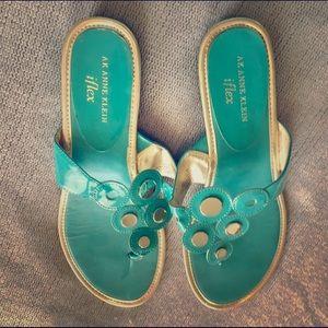 Anne Klein Shoes - AK Anne Klein I flex slide wedged sandals