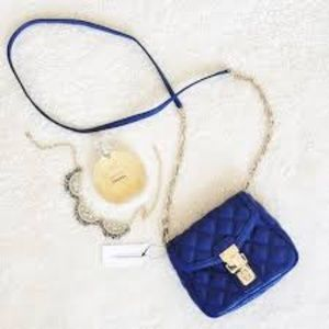 Banana Republic Quilted Cross Body Bag -Royal blue
