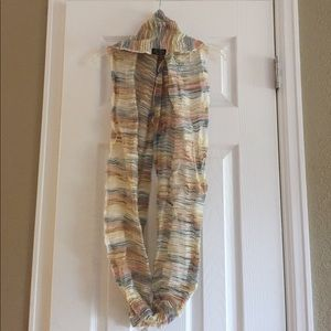 Silk patterned infinity scarf