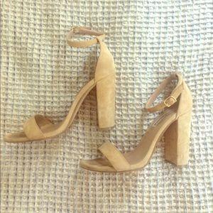 Steve Madden Nude Ankle Strap Heels