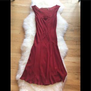 MaxStudio.com Silk Dress- Red