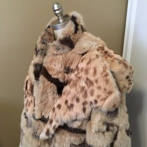 vintage rabbit fur cape