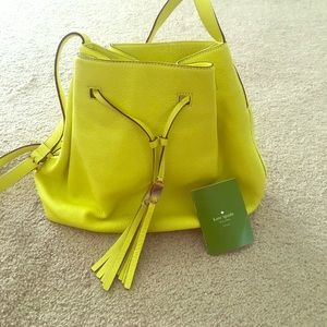 Brand New Kate Spade drawstring bag