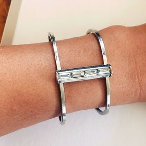 Silver cuff - fits any size by Banana Republic