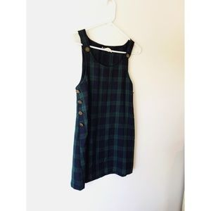 Plaid Mini Jumper Dress