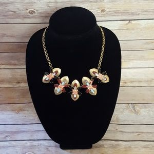J. Crew Gold Platted Necklace w/ Jewels