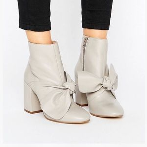 leather bow booties!