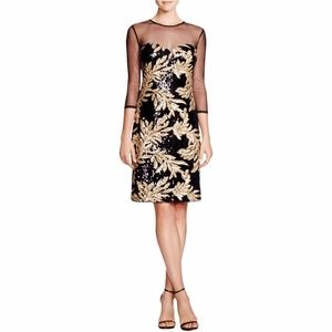 NWT JS Collections Illusion Neck Sequin Dress