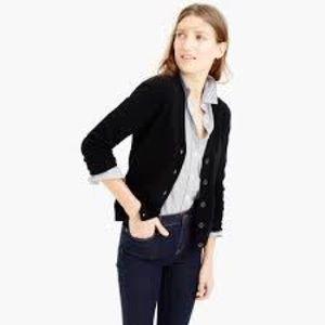 (J. Crew) Large black Italian Cashmere cardigan