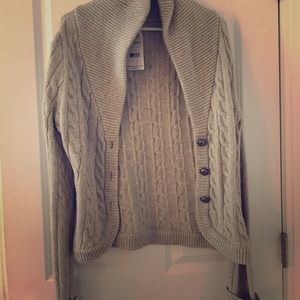 Free people new sweater- grey color size large