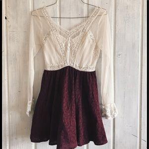Free People Victorian Lace Mini Dress. Size 4.