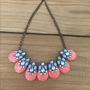 Coral & Blue Bauble Necklace