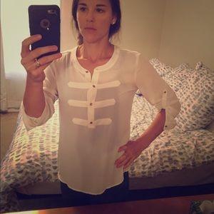 Banana republic polyester blouse