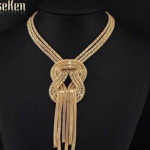 Tassel necklace in gold color