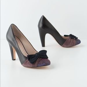 Anthropologie Bow-Tipped Pumps