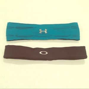 Set of Two Athletic Headbands:Oakley, Under Armour
