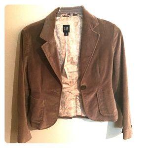 Women's Brown Suede Gap Blazer Size 8
