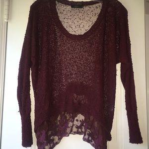 LF Millau Maroon Medium sweater