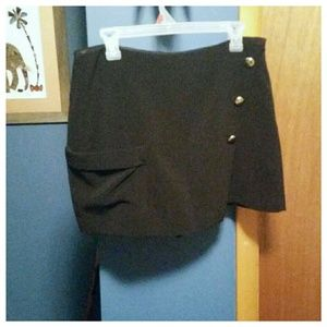 Zara basic black skorts