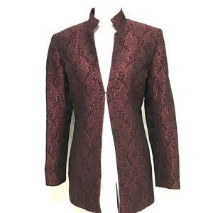 Kate Hill  maroon and black long  jacket