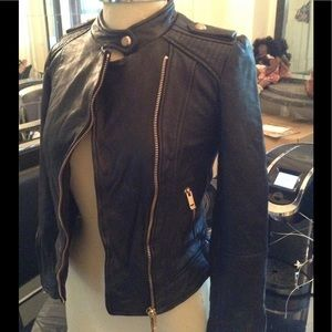 Zara basic / leather motorcycle jacket