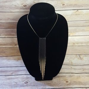H&M Black and Gold Ombre Tierred Necklace