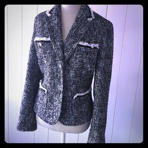 Black and white tweed jacket, size 12