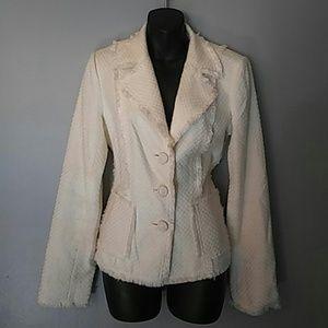 WHITE house BLACK market CREAM blazer/jacket