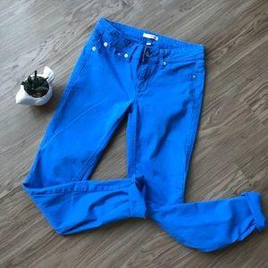 Bongo Dyed Ocean Blue Skinny Jeans SZ 5