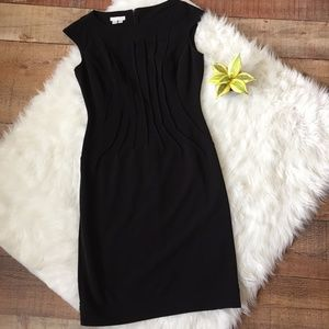 London Times Cap Sleeve Fitted Dress