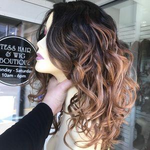 Ombré loose curls Swisslace Lacefront wig