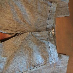 Banana Republic Chambray petite pants. Size 24/00