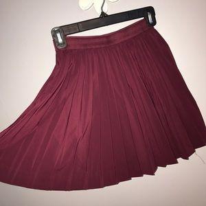 Flirty Maroon Skirt