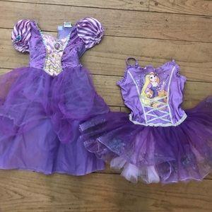 Girls rapunzel dress bundle