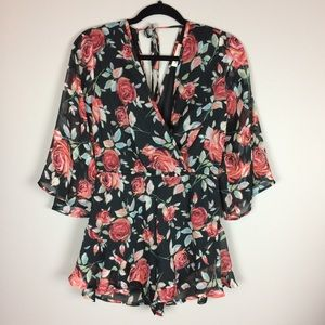 Band of Gypsies Fall Floral Romper