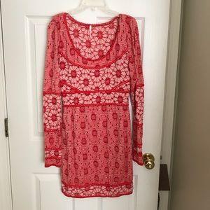 Free people crochet body con dress