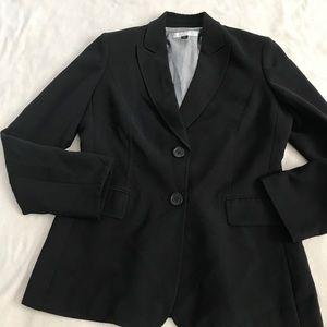 Tahari Black Lined Double Button Career Blazer