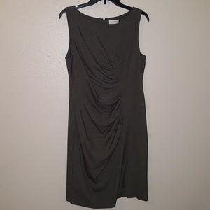 Calvin Klein Scoop Neck Pleated Sheath Dress NWOT