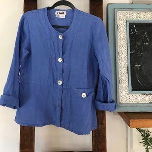 FLAX Engelhart jacket shirt P 100% linen vintage