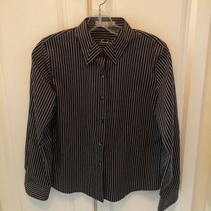 Foxcroft Wrinkle Free striped button down shirt