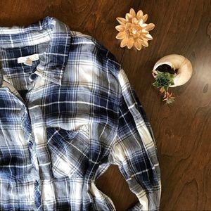 BLL fall rayon flannel button down shirt