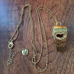 Betsy Johnson* Never used! Whistle necklace
