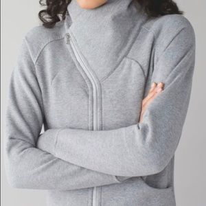 Lululemon Cozy Cuddle Up Jacket-Gray, Size 12