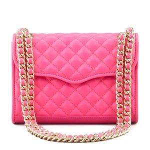 Hot pink large Rebecca Minkoff quilted affair