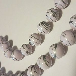 light lilac & silver necklace