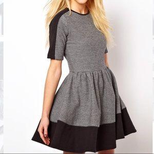 ASOS Colorblock Sporty Skater Girl Knit Dress