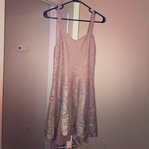 Free People Brown / Gold Dress