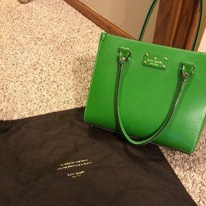 Kate Spade Wellesley Quinn purse in Emerald Green