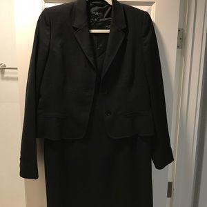 Hobbs black work dress (14UK) and blazer(12UK)